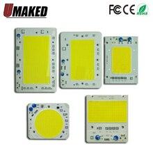 Chip de lámpara LED COB, 30W, 40W, 50W, 100W, 150W, lámpara LED COB, 220V, IC inteligente, blanco frío cálido, foco LED, Chip de reflector