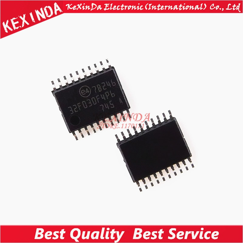 משלוח חינם STM32F030F4P6 STM32F030F4 STM32F030 32F030F4P6 IC MCU זרוע 16 k פלאש TSSOP20 10 יחחבילה