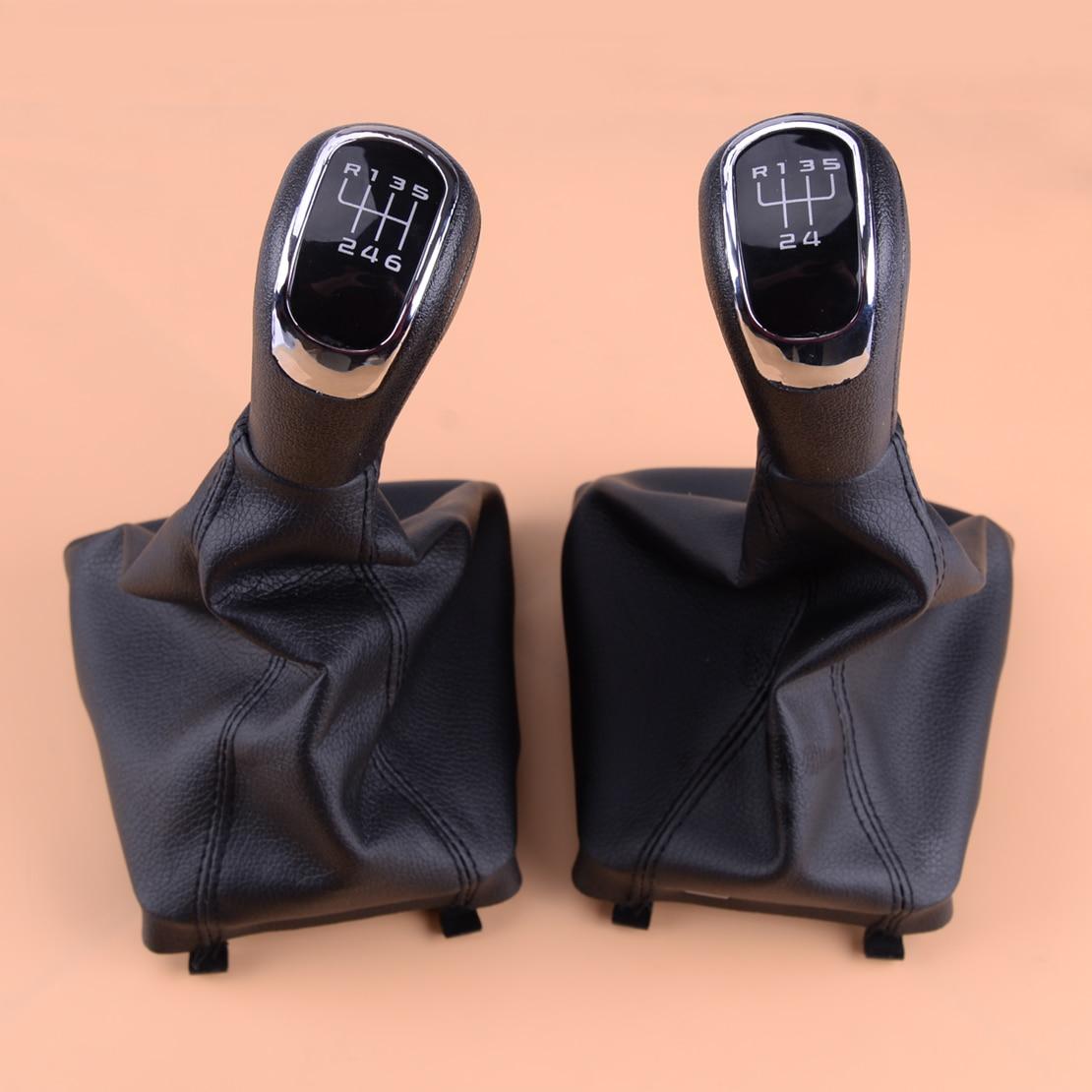 Nueva palanca de cambio de marchas negra 5 6 velocidades perilla de cambio ESTRUCTURA DE polaina palanca coche 1Z0711141 ajuste para Skoda Superb 2008 2009 2010 2011 2012