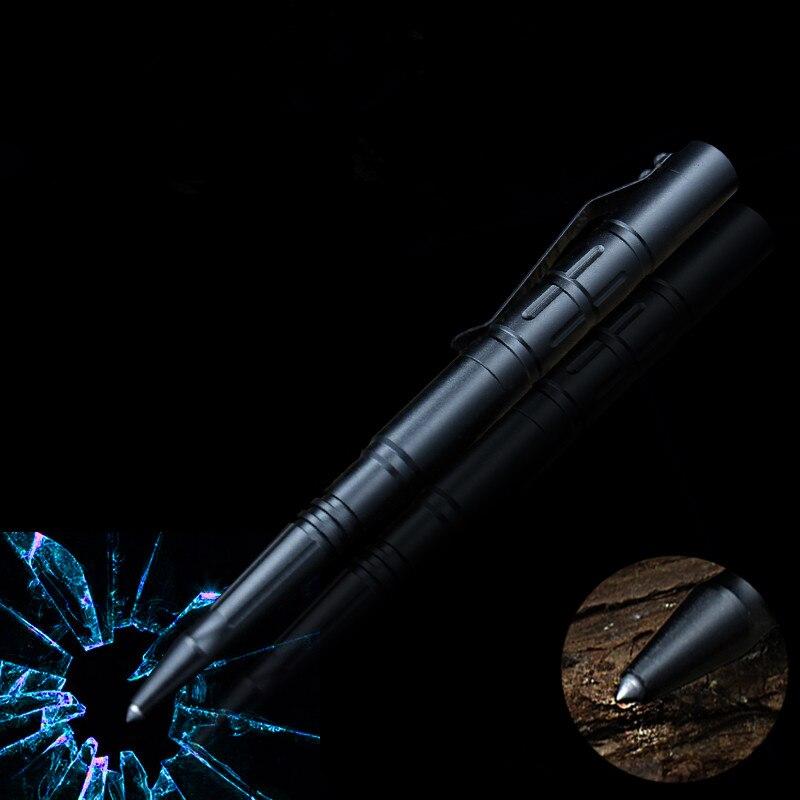 1 Uds. GENKKY Bolígrafo de metal bolígrafos tácticos de tungsteno de acero, bolígrafo multifuncional de metal unisex, bolígrafo de ventana