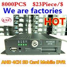 Usine vidéo de voiture   Pour les moteurs à feu/billets de voiture, surveillance vidéo, machine à carte SD à 4 voies