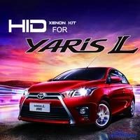 for toyota yaris l 55w ultra fast bright hid headlight kit full digital waterproof free shipping