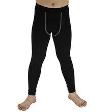 Pantalones deportivos para niños, pantalones ajustados de compresión con capa Base para correr, pantalones de entrenamiento de fútbol, mallas ajustadas deportivas Y50
