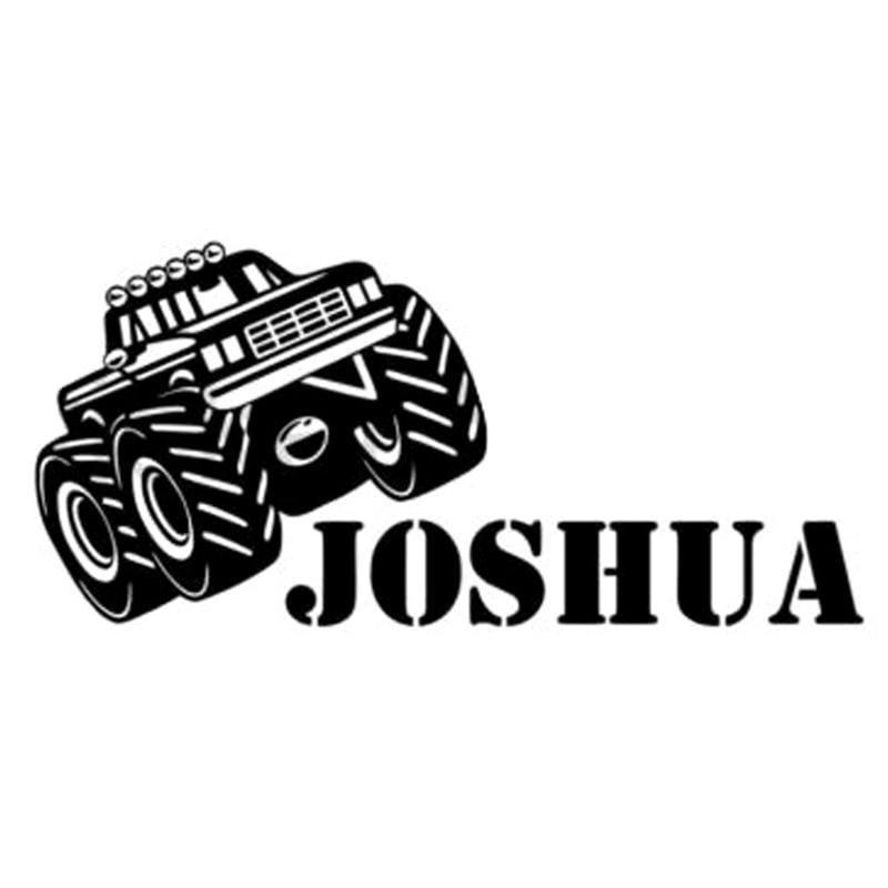17,6 cm * 8cm Monster Truck Joshua Auto Styling Aufkleber Decals Vinyl S4-0061