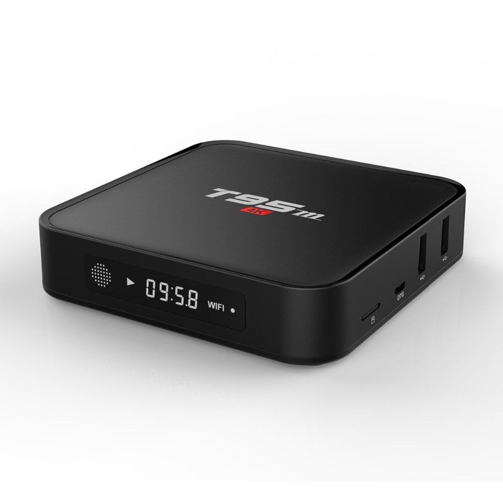 T95M Android 7,1 caja de TV 1 GB de DDR4 RAM 8 GB EMMC ROM WiFi 2,4G Smart TV Box 4K Media Player