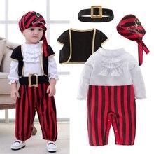 Disfraz de capitán pirata para niños, Pelele de bebé, ropa de fantasía de Navidad, Disfraces de Halloween, monos para niños