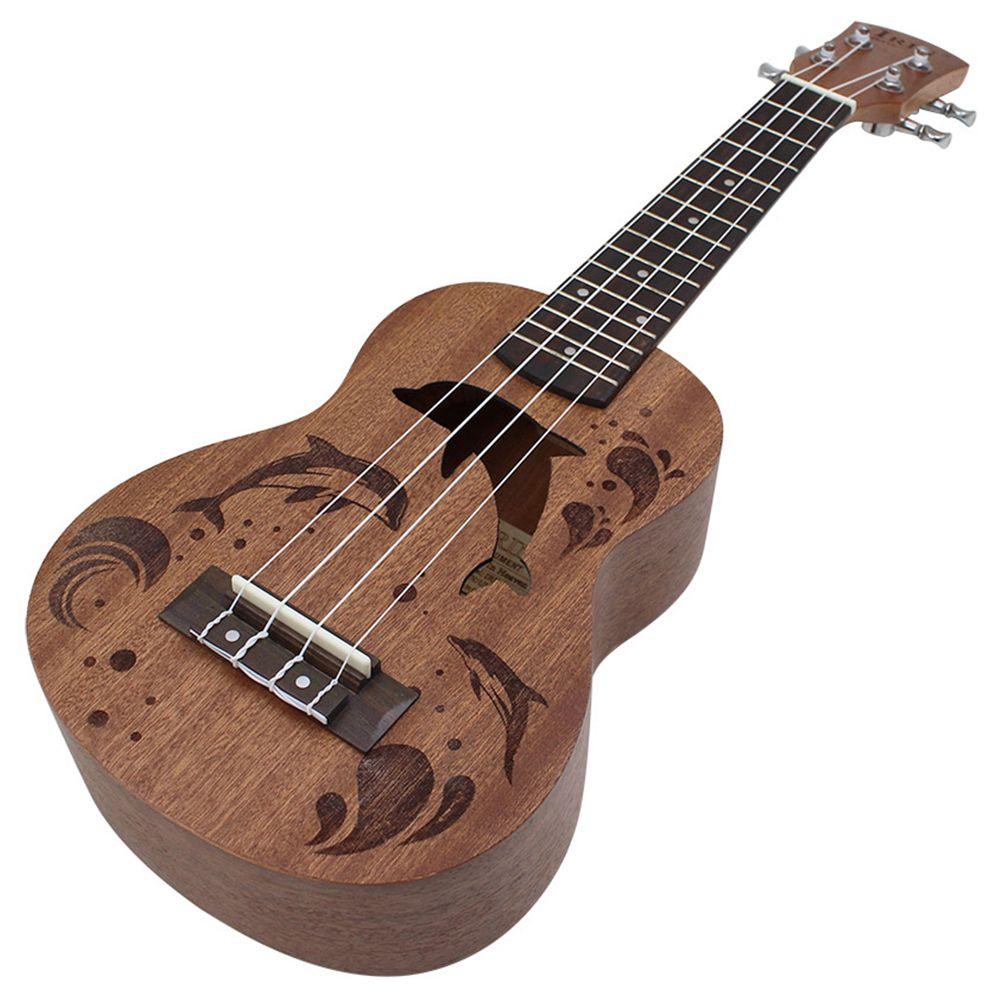 Nuevo IRIN 21 pulgadas Sapele Pattern Dolphin guitarra profesional ukelele Tuning Peg 4 cuerdas cuello de madera delicado regalo