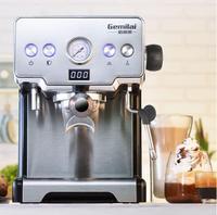 china GEMILAI CRM3605 coffee machine household Italian semi-automatic 15bar 1.7L pump steam type black esspress milk foamo cafe