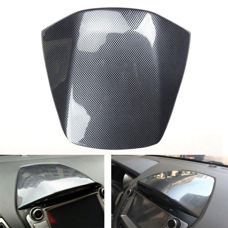 YAQUICKA Neue Carbon Faser Stil Auto Konsole Instrument GPS Navigation Obere Abdeckung Trim Styling Für Hyundai IX35 2010-2015