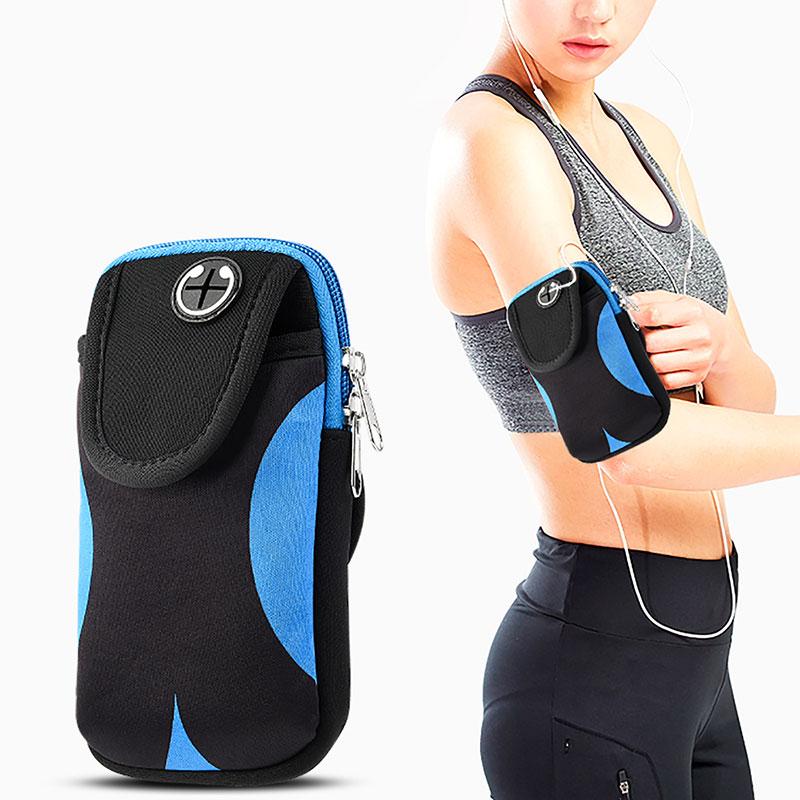 Bolsa para teléfono en la mano deporte correr pulsera bolsa funda brazalete Universal teléfono móvil bolsas soporte al aire libre deporte funda para el brazo