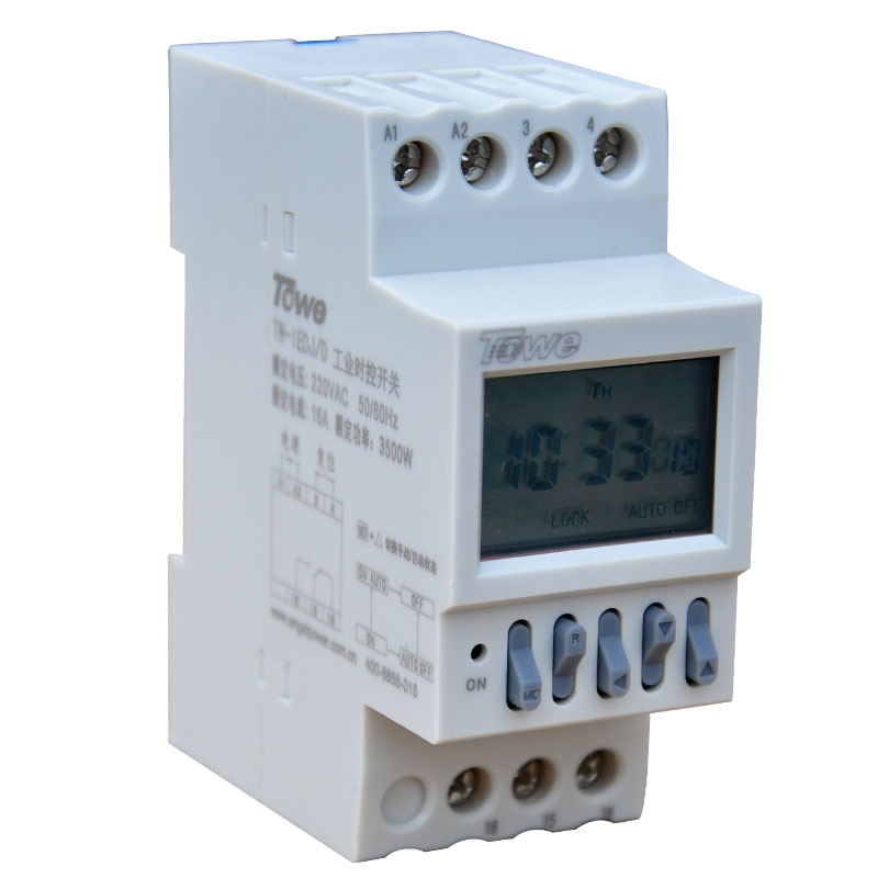 TOWE TW-IEDJ/D 220V 3500W  Industrial timer three-phase power countdown timer switch rail / microcomputer control switch towe tw iedj d 220v 3500w industrial timer three phase power countdown timer switch rail microcomputer control switch