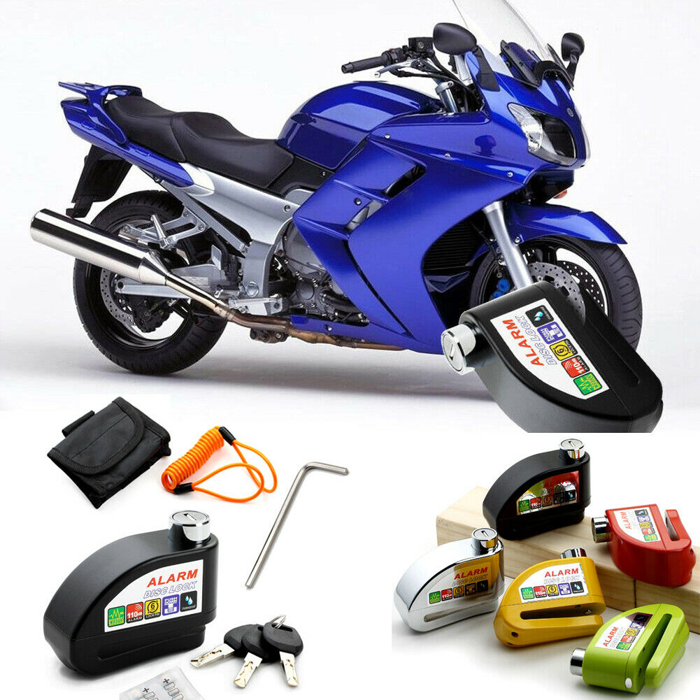 Motocicleta freno bloqueo disco Anti robo seguridad bicicleta rueda disco seguridad Moto alarma