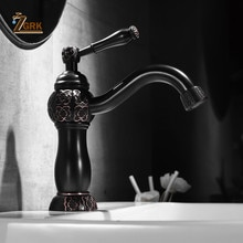 ZGRK Basin Faucets Bath Black Oil Bronze Brass Water Tap Bathroom Basin Sink Faucet Vanity Faucet Wash Mixer Taps Crane SLT139B