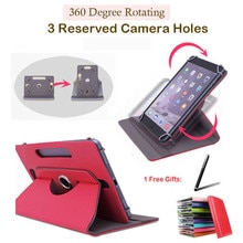 Para ONDA V891w 8,9 pulgadas para PiPO T9s/W6/P4 8,9 pulgadas giratorio 360 grados Universal Tablet PU Funda de cuero gratis pluma