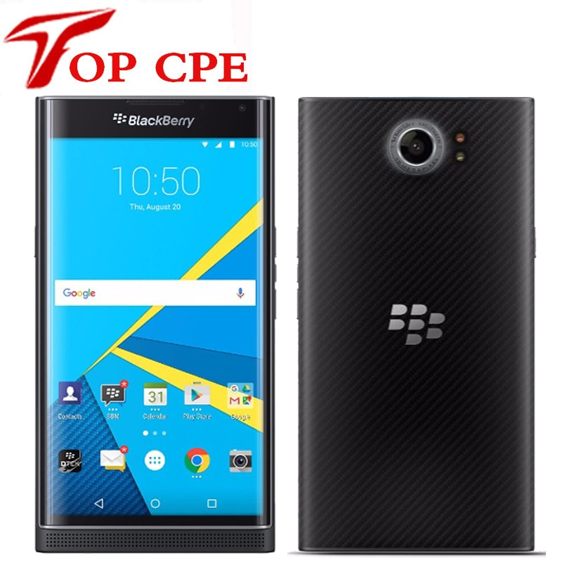 Original desbloqueado BlackBerry Priv 5,4 Slider teléfono móvil Android OS 3GB RAM 32GB ROM 18MP Cámara Hexa Core teléfono móvil