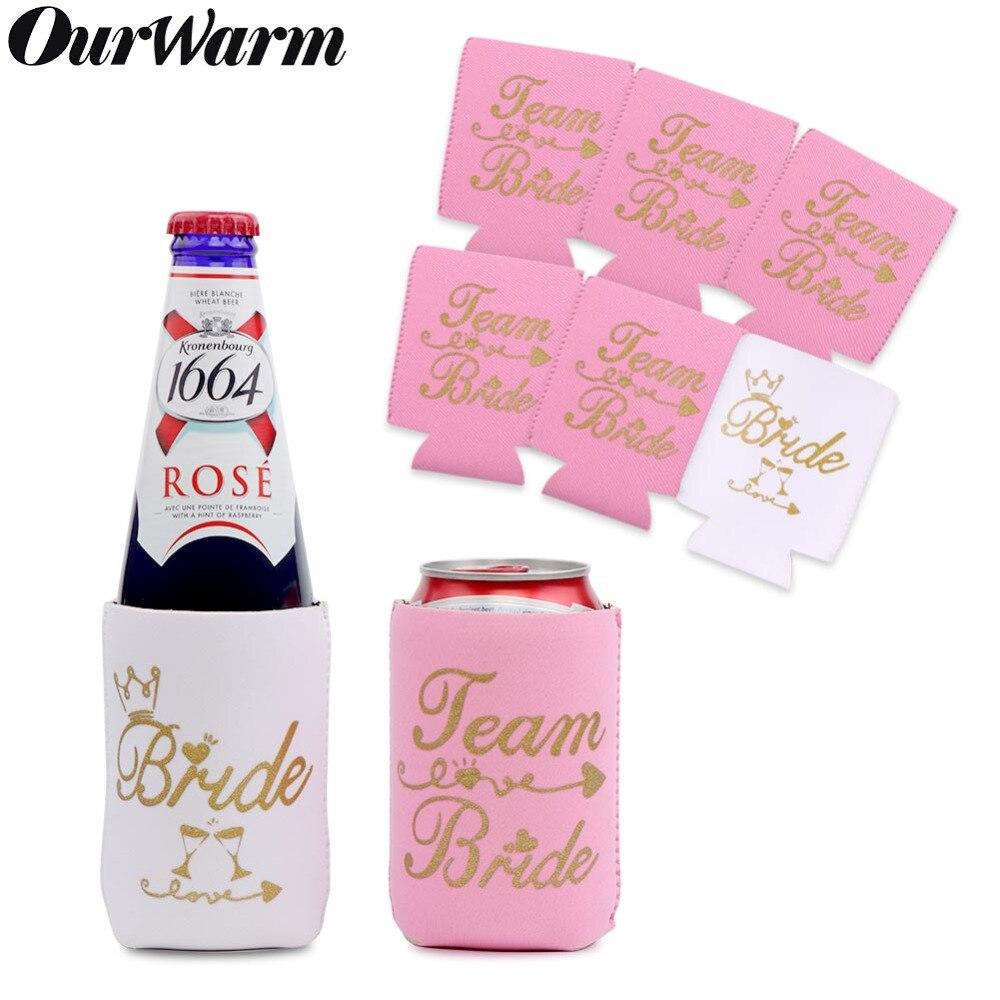 OurWarm 12 шт девичник неопрен пиво кулер рукава бутылки уютная пиво может держатель девичник Свадебная вечеринка Supplie