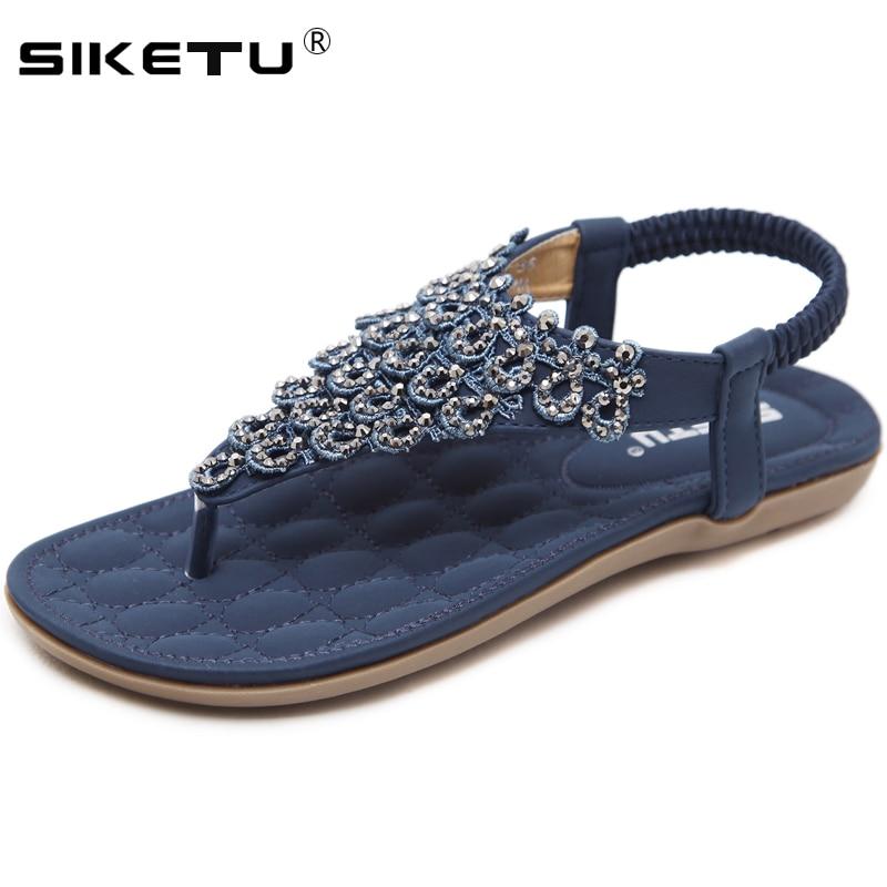 SIKETU grande taille 35-42 sandales plates femmes été plage chaussures femme bascule femme sandales décontracté Sandalias Mujer 2020 WSH2412