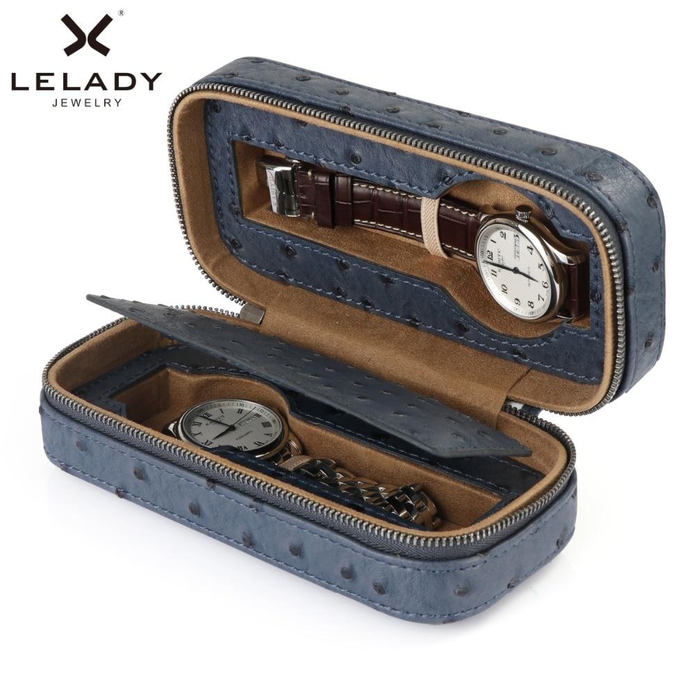Коробка с 2 ячейками LELADY для часов, Высококачественный футляр из искусственной кожи для хранения часов, профессиональный держатель, органайзер для часов
