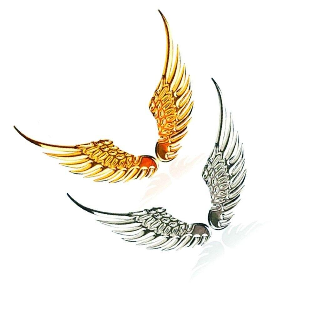 1 paar 3D Stereo Metall Engel Flügel Auto Aufkleber Dekoration Abzeichen Emblem Chrome Auto Auto Aufkleber Aufkleber Auto 3d Große flügel Auto Aufkleber