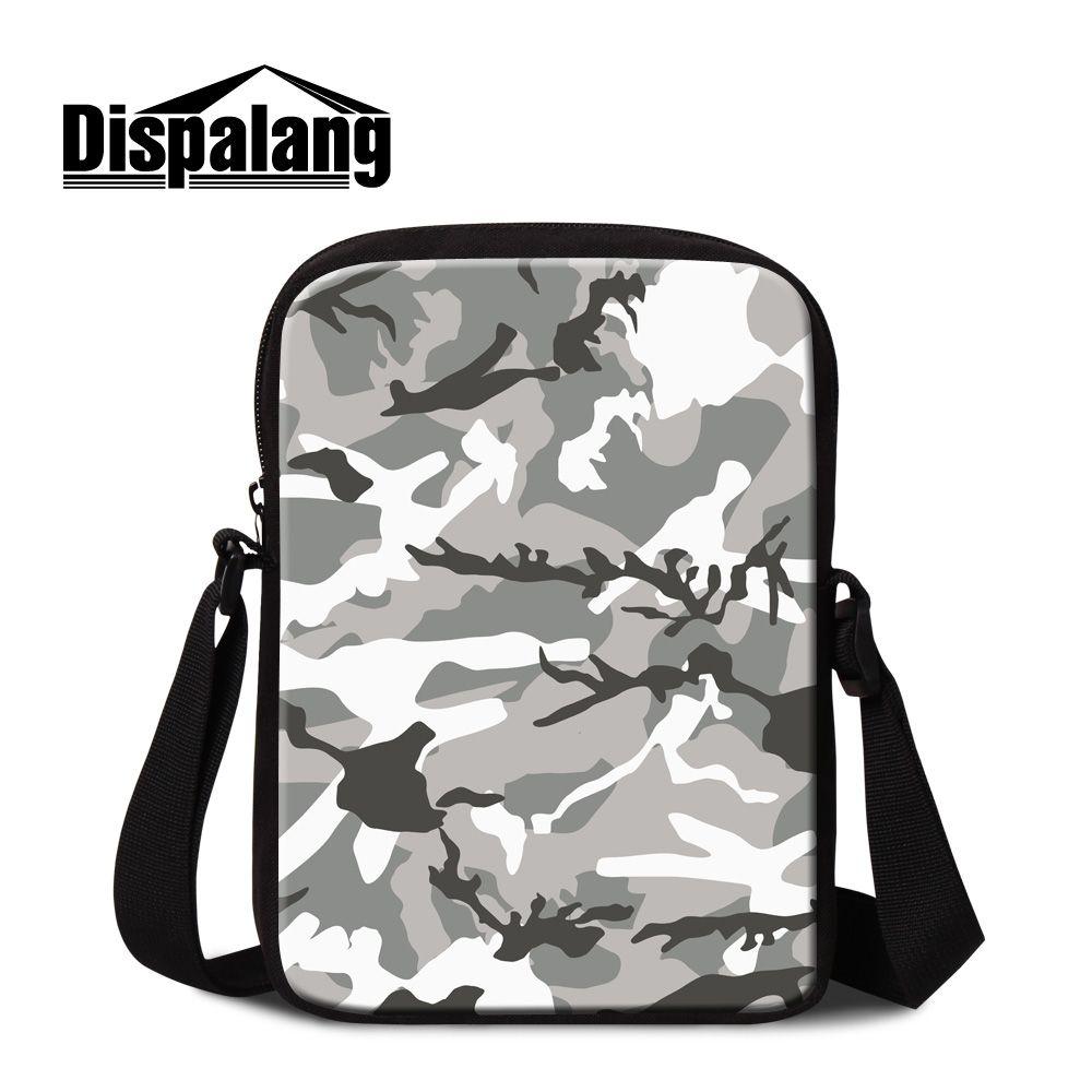 Маленькая сумка-мессенджер с камуфляжным принтом, Детская сумка-мессенджер для путешествий, мини-сумка для Кроссбоди, индивидуальный дизай...