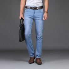 2019 SULEE Brand Men Spring summer style Utr Thin Denim Cotton Causal Pants Business jeans  28-40 Best Price