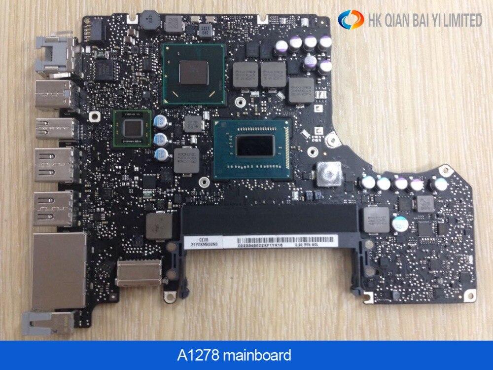 "Nueva placa base para Macbook Pro 13 ""Laptop A1278 placa lógica i7 2,7 GHz 4GB placa base I7 2620-M early 2011 MD101 MD102"