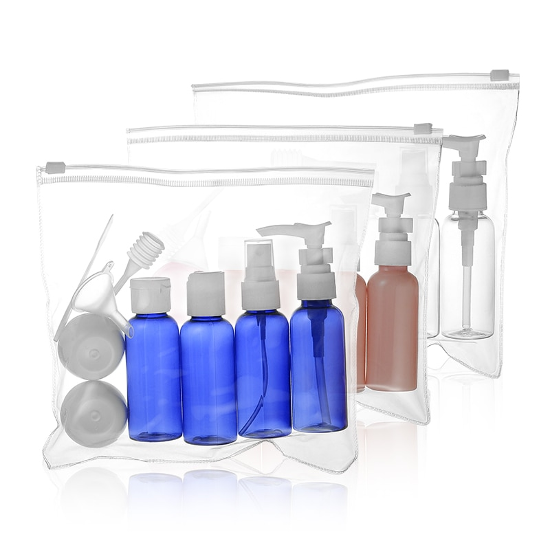 7pc/set 10pc/set Portable Travel Cosmetic Bottle Kit Personal Care Makeup Container Bottles By Plane