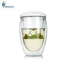 UPSPIRIT-tasse 3 en 1 à Double couche murale de 350mL   Avec infuseur et couvercle, passoire à thé à feuilles mobiles résistante à la chaleur, filtre à café