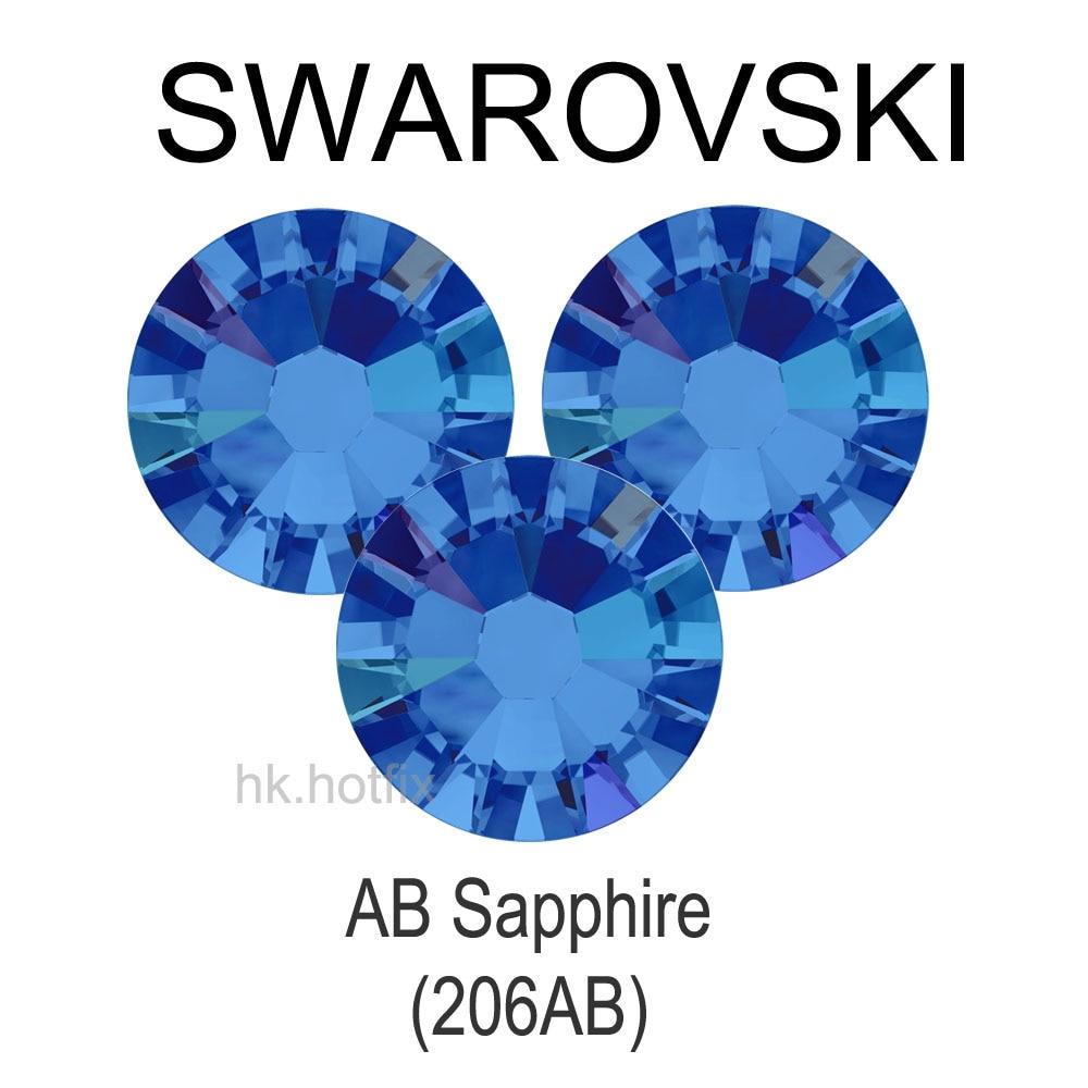 Ss30 bijoux Swarovski véritables (206 AB)   36 pièces, sans strass, perles de Nail Art