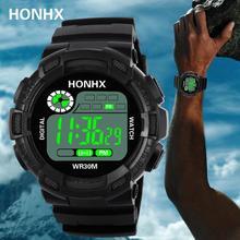 Reloj para hombre 2018, reloj deportivo de marca de lujo, reloj electrónico Digital para hombre, reloj militar, resistente al agua para hombre # D