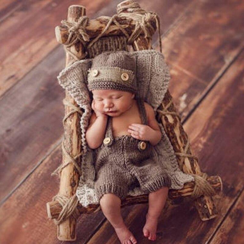 Реквизит для фотосъемки новорожденных в ретро стиле для маленьких мальчиков, шапка для новорожденных, штаны, вязаная крючком одежда, аксессуары, костюм