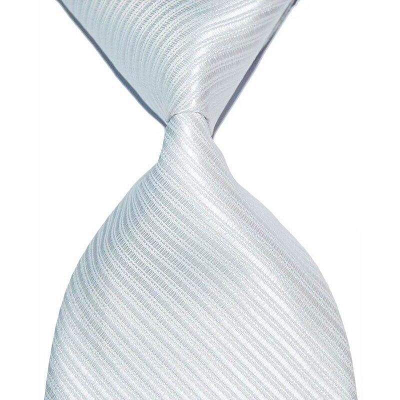 Formal Wear Business blanco traje corbata para hombres seda corbata 10cm ancho moda masculina tejido de punto Jacquard corbata Regalo boda fiesta