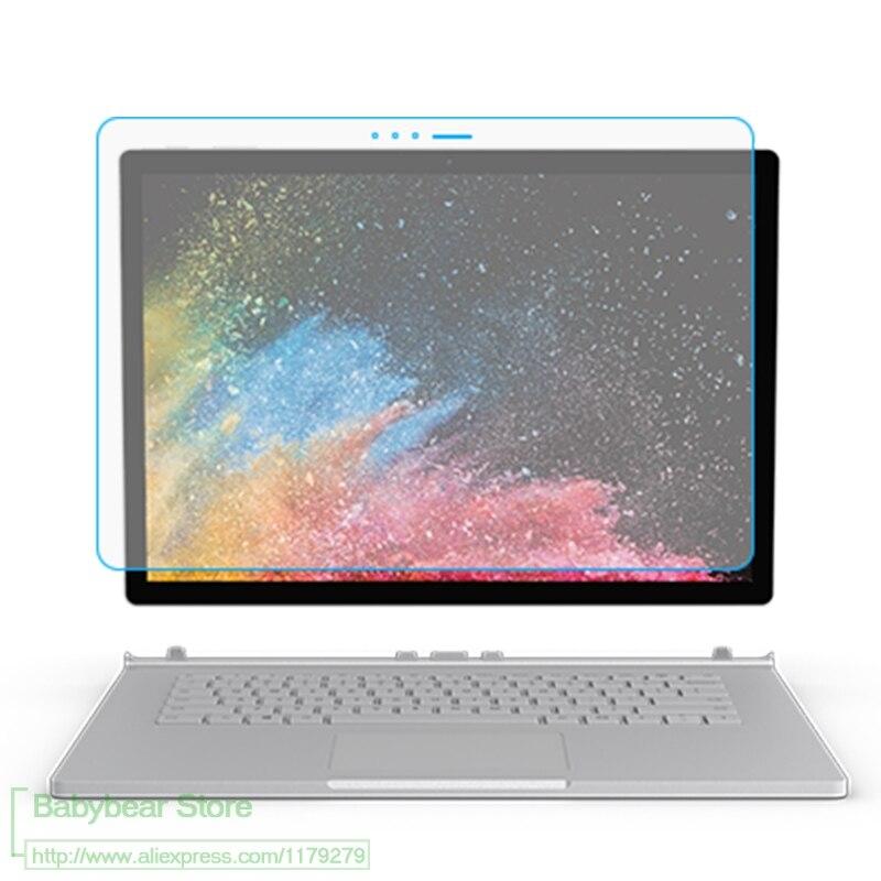 Protetor de tela de vidro temperado 9h, para microsoft superfície book 1/2/9/10, 15 polegadas, livro 13.5 filme da tablet do laptop da superfície