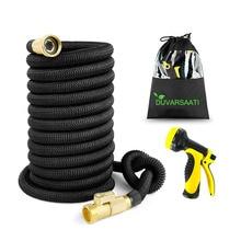 Jeu de tuyaux flexibles deau haute pression   Tuyau magique de jardin extensible pour tuyau de voiture, tuyaux en plastique à arroser avec pistolet de pulvérisation