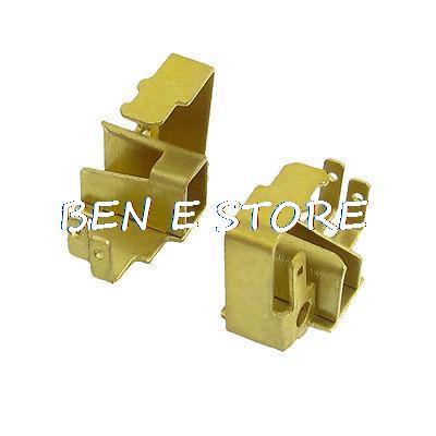 2 uds soporte de cepillo de carbono de Metal de tono dorado de repuesto para amoladora angular para Bosch GWS 6-100/Dongcheng FF03-100A