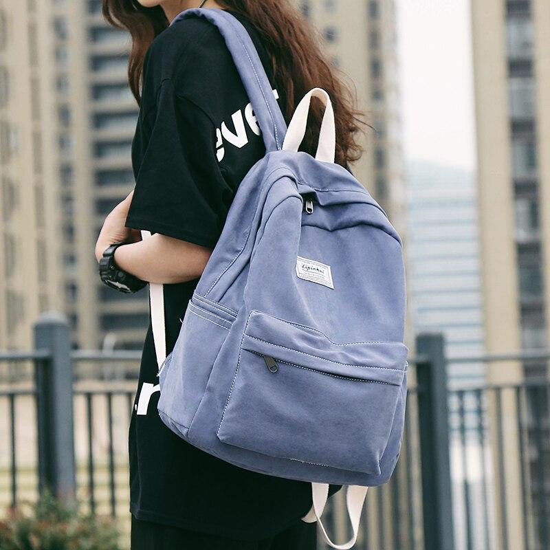 Bonito estudante de tecido algodão mochila feminina sacos de escola para meninas adolescentes harajuku mochilas senhoras kawaii luxo feminino saco de livro