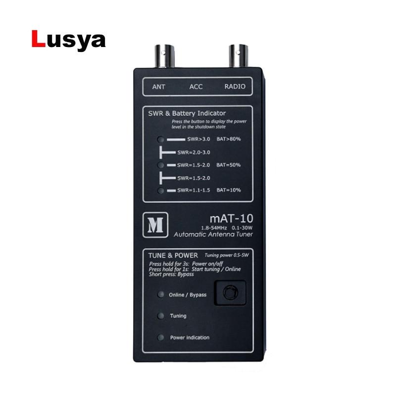 O mais novo mAT-10 QPR Automatic tuner 1.8 MHz para 54 MHz de freqüência Para YEASU FT-817 818 QRP Rádio T0636