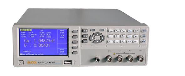 Llegada rápida, nuevo producto, medidor U2837 LCR, frecuencia de with50-100kHz, precisión básica 0.05%, resolución de seis dígitos