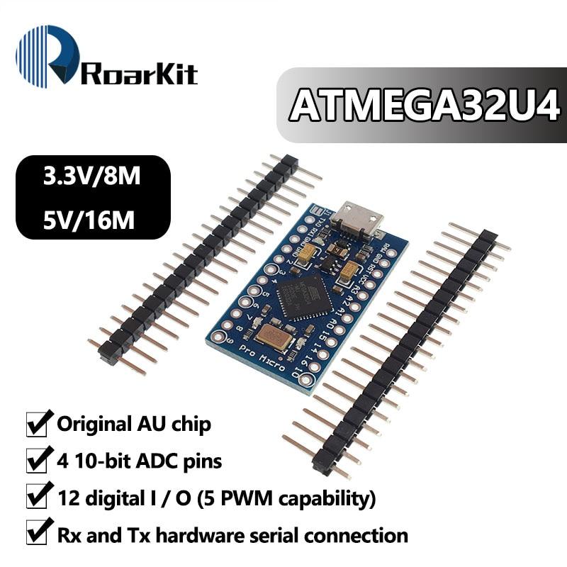 ATmega32U4 Модуль платы для Arduino/Leonardo ATMega 32U4, 3,3 В, 8 МГц, Pro Micro 5 В, 16 МГц