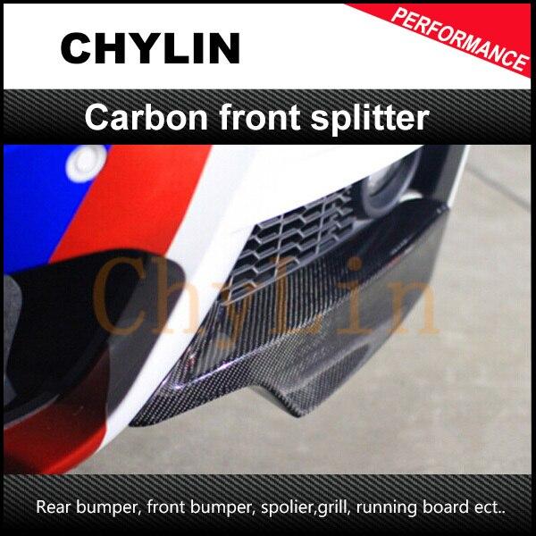 Divisor frontal de estilo Material de fibra de carbono P de alta calidad para parachoques BMW F30 F35 m-tech