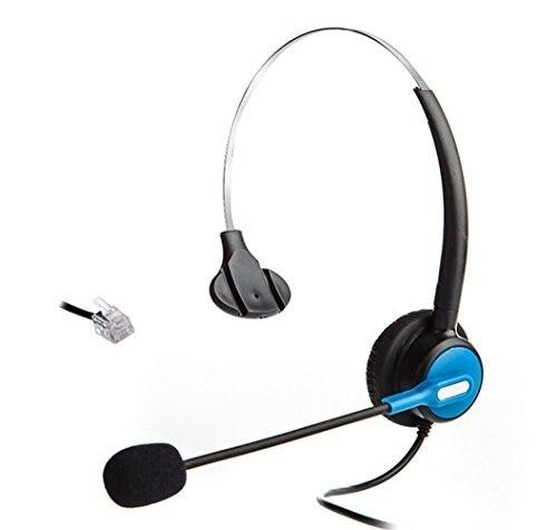 Wantek auriculares para Nortel Meridian Norstar NEC PolyCom de ShoreTel T20 soplado, Talkswitch ESI Doro Hybrex Cable teléfonos inalámbricos