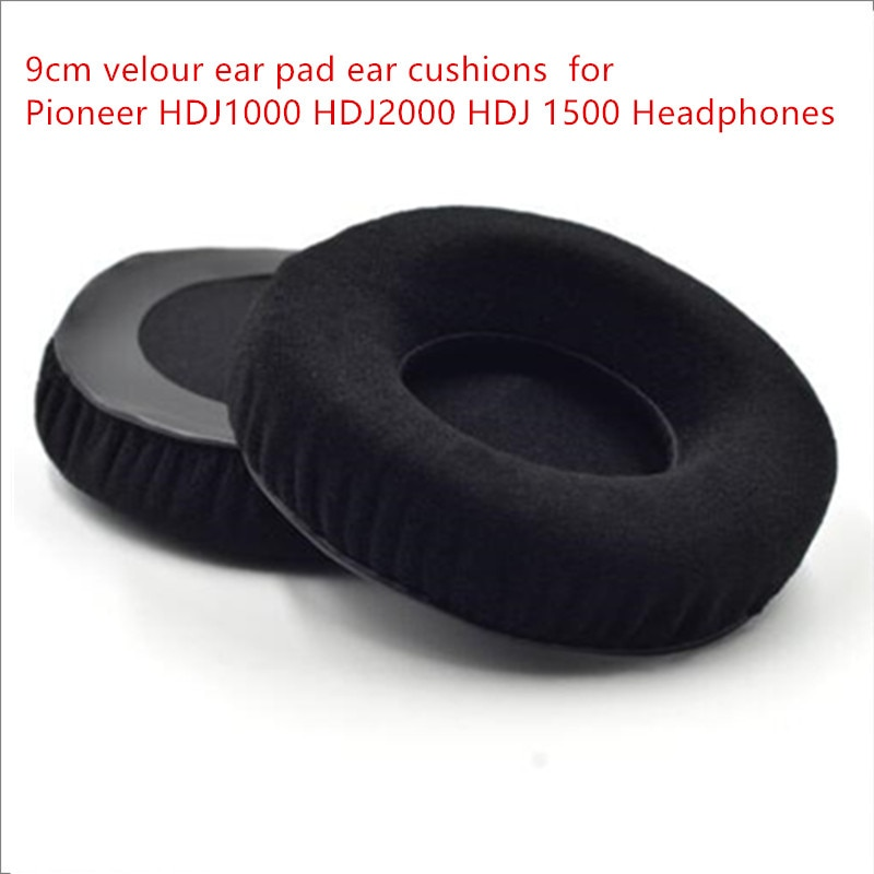 50 pack 9cm velour Ear Cushions ear pads 90mm for Technics RP-DH1200,HDJ-1000 and HDJ-2000. MDR-V700 HD205 HD215 enlarge