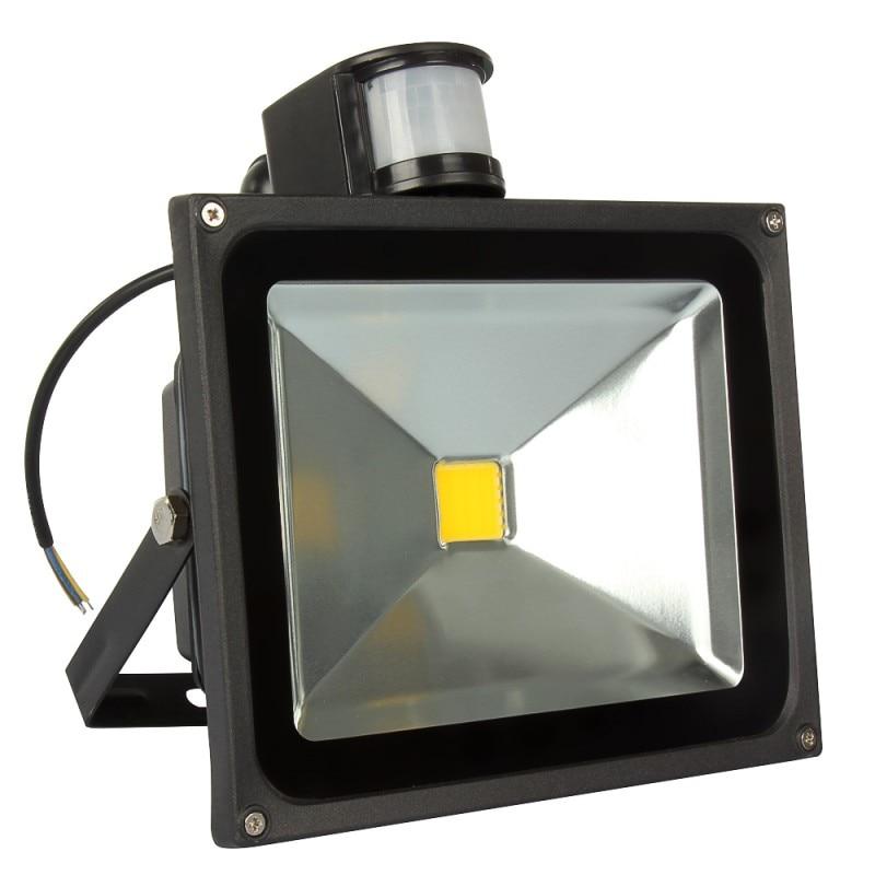 Fenglaiyi 4 pçs ao ar livre conduziu a luz de inundação com sensor de movimento pir led holofote ip65 10 w 20 30 50 led segurança ao ar livre lâmpada