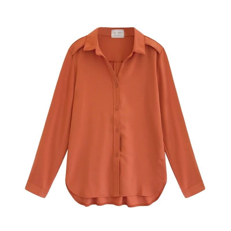 Women Long-sleeved Chiffon Blouse Shirt 2018 Elegant Women Blouses Tops