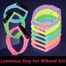 Lu mi nous mi band 3 4 bracelet bracelets accessoires veilleuse remplacement pour Xiao mi Smartband Xio mi Xaio mi Xia mi xao mi xaiomy