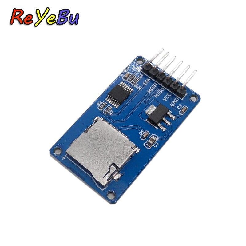 Адаптер карты Micro SD модуль SPI интерфейс Мини TF кардридер для Arduino