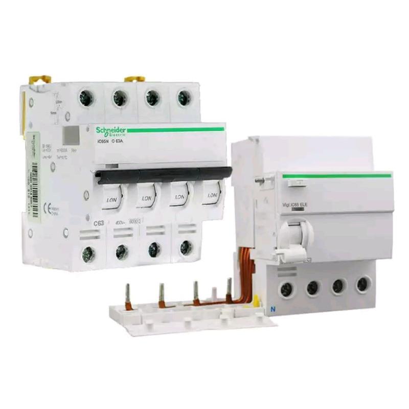 Автоматический выключатель Schneider, пятое поколение A9IC65, защита от утечки 3P63A, аксессуары для утечки