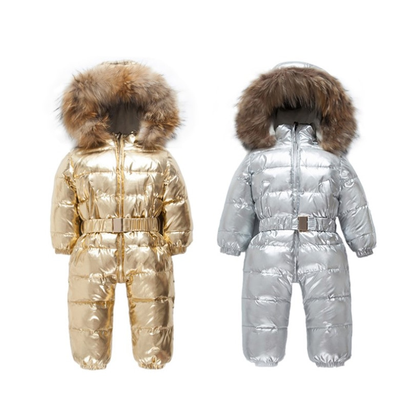 Autumn and winter new baby down jacket, boys and girls thickened jumpsuit, baby romper, suitable for children aged 1-8.