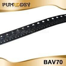 100 pièces BAV70 0.2A 70V SOT-23 marquage A4 SMD SOT23 BAV70LT1G transistor livraison gratuite IC