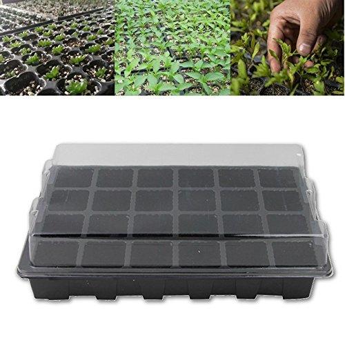 24 ячейки отверстие семена растут коробка питомник лоток с крышками семян росток